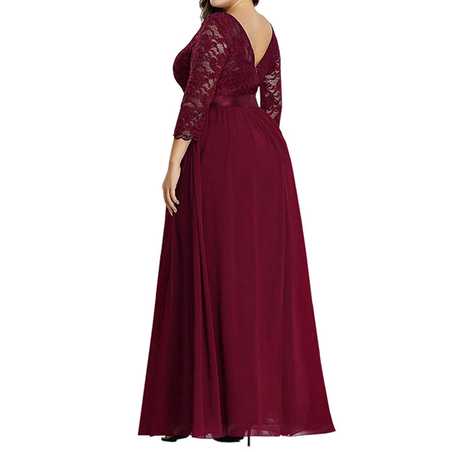 Dresses For Wedding Party Women Plus Size Floor Length Evening Dress
