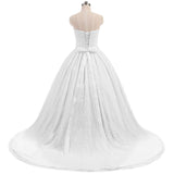 Full Lace Bridal Dress Pleated A Line Wedding Dress With Train