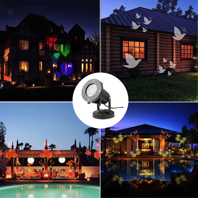 Christmas Light Outdoor Led Projector Light Decoration Waterproof Replaceable Pattern