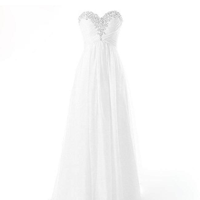Sweetheart Strapless Bridal Gown A Line Wedding Dress Lace Up