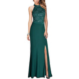 Halter Neck Cocktail Dresses For Women Mermaid Vintage Maxi Dress