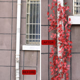 Christmas Deco Fall Maple Leaf Garland Artificial Fall Foliage 2 Pack Per Set