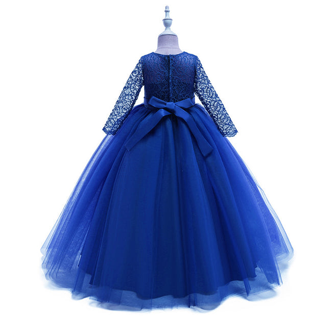 Princess Flower Girl Dresses A Line Floor Length Long Sleeves