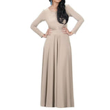 Fall Winter Party Gown Long Sleeves Scoop Neckline Empire Waist