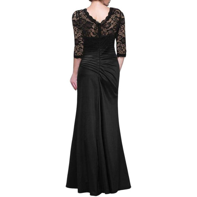 Floral Lace Evening Dresses Retro Mermaid Maxi Dresses For Women