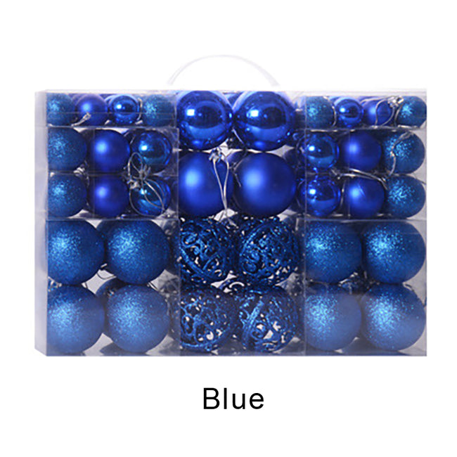 Christmas Ball Ornaments Shatterproof Decorated Tree Balls 100 PCS Per Box