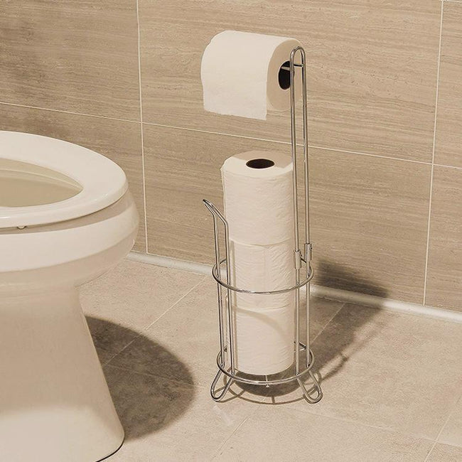 Metal Toilet Tissue Holder Bathroom Paper Roll Storage Holder