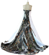Camo Wedding Gown Camouflage Embroidery A Line Bridal Dresses