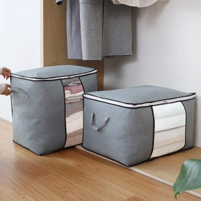 Large Capacity Storage Bag with Reinforced Handle 3 Per Pack