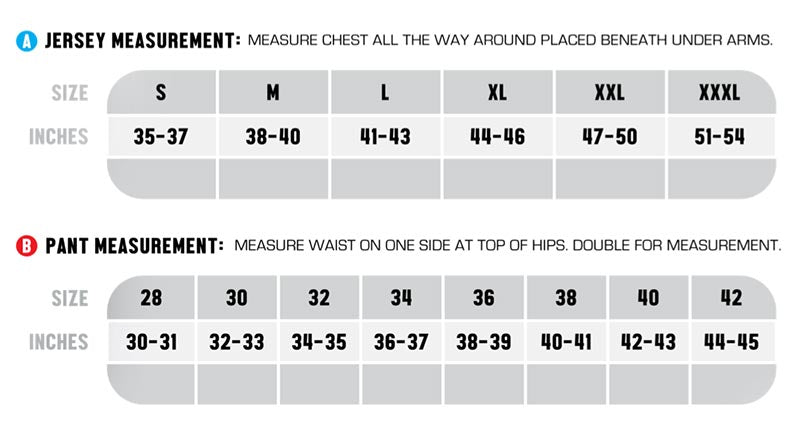 Gear Sizing Chart Fasthouse