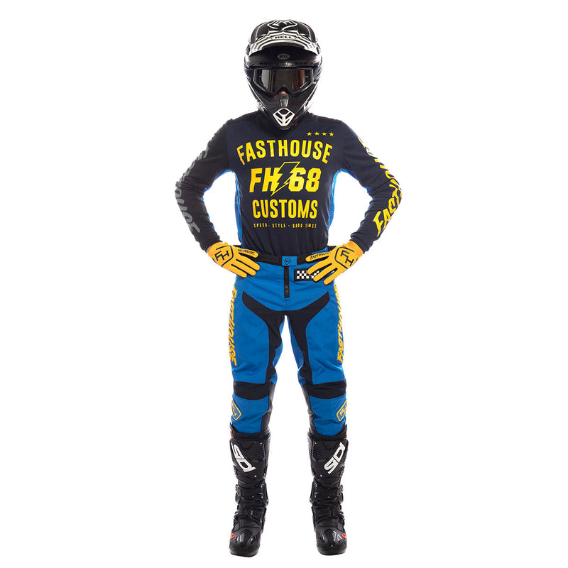 Fasthouse - Worx 68 Youth Jersey - Blue/Yellow