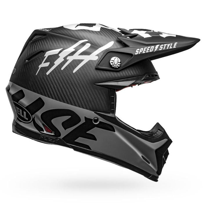 Fasthouse - Bell Fast Tribe Moto 9 Helmet - Black/Grey