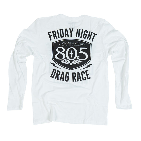 805 Drag Race - White Long sleeve
