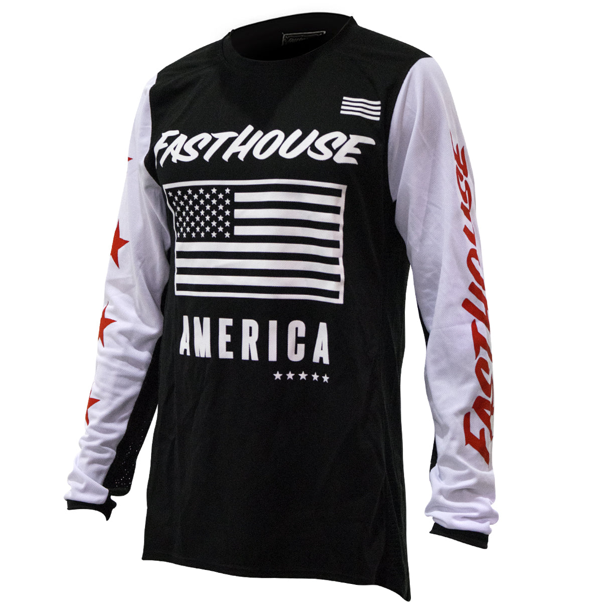 Fasthouse - American Jersey - Black White Red