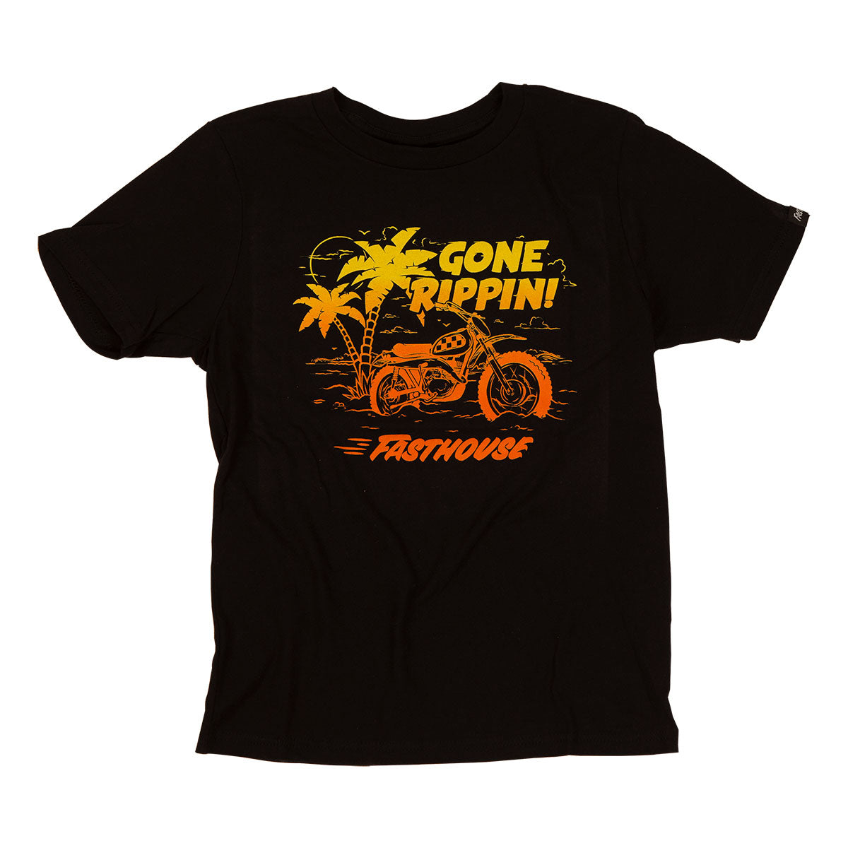 Gone Rippin' Youth Tee - Black