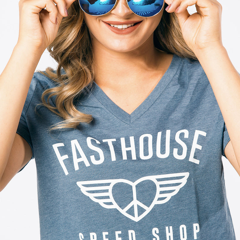 Fasthouse - Wings Womens Tee - Slate