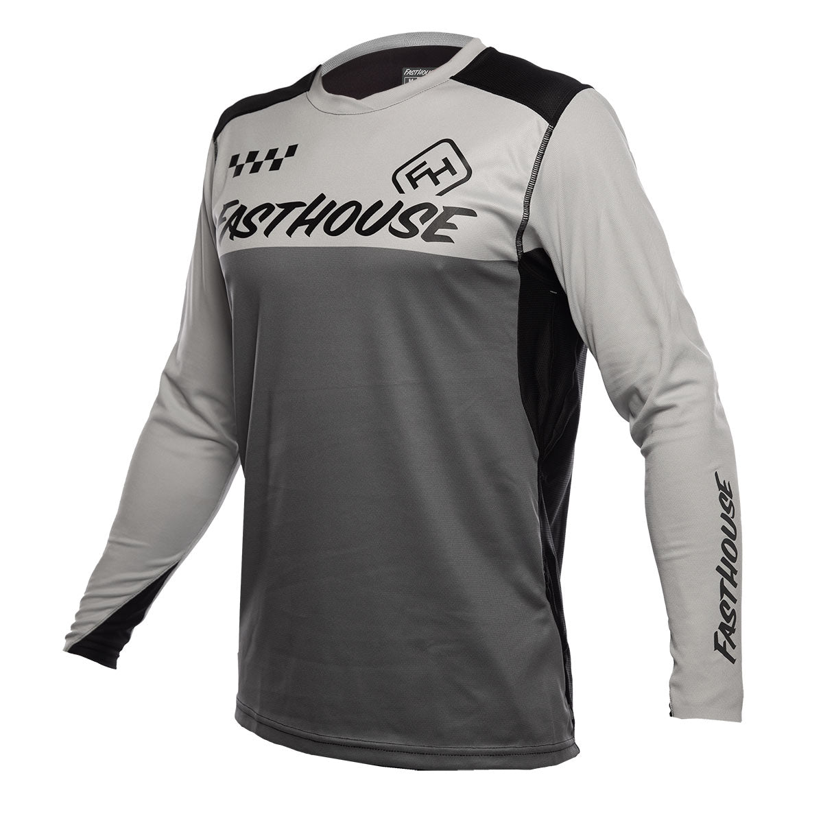Alloy Block LS Jersey - Silver/Charcoal