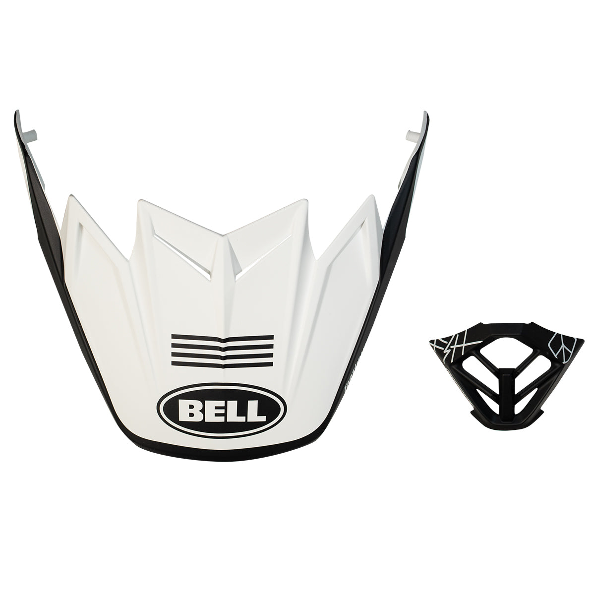 Fasthouse - 4-Stripe White/Black PS Moto 9 Visor MP Kit