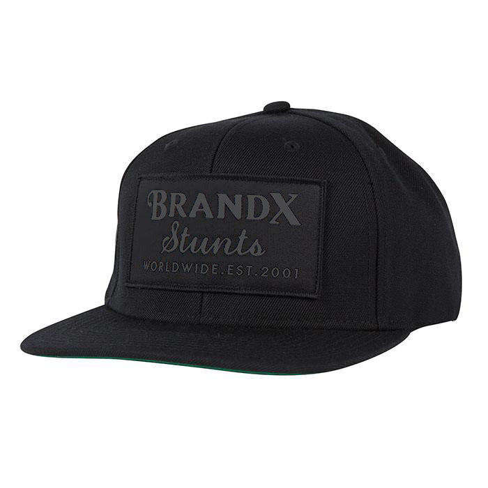 Brand X Worldwide Hat - Black on Black