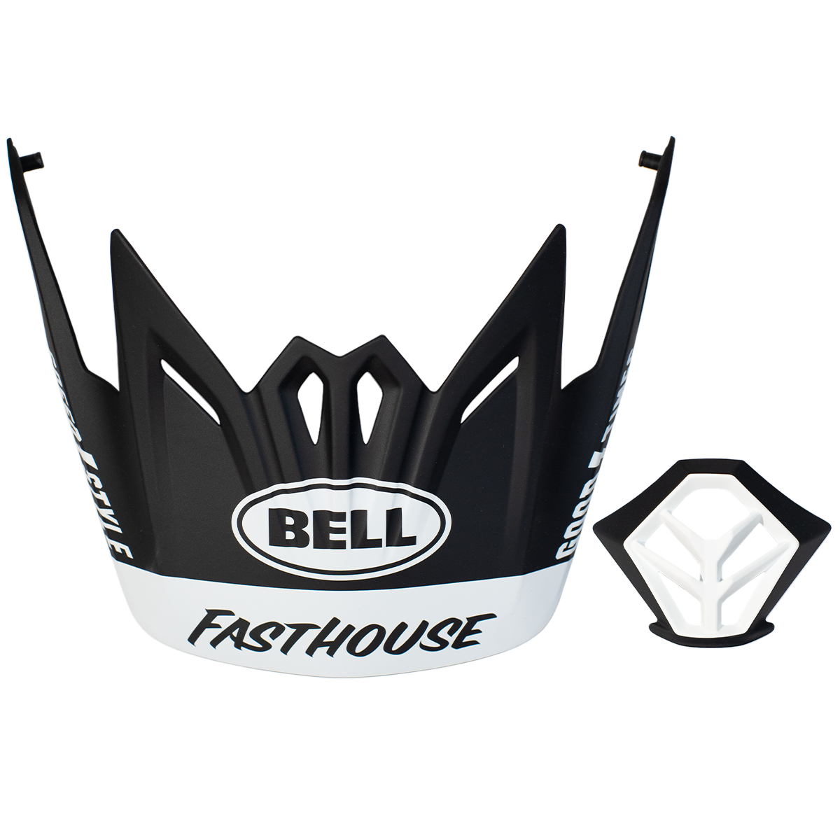 Bell MTB Visor + Mouthpiece Kit Black/White