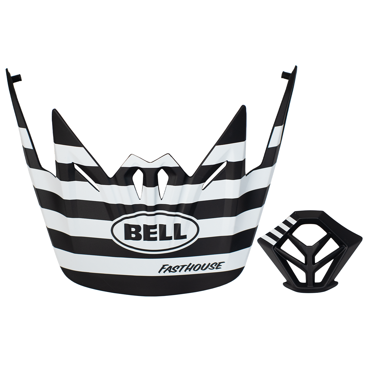 Bell MTB Visor + Mouthpiece Kit Stripes - Black/White