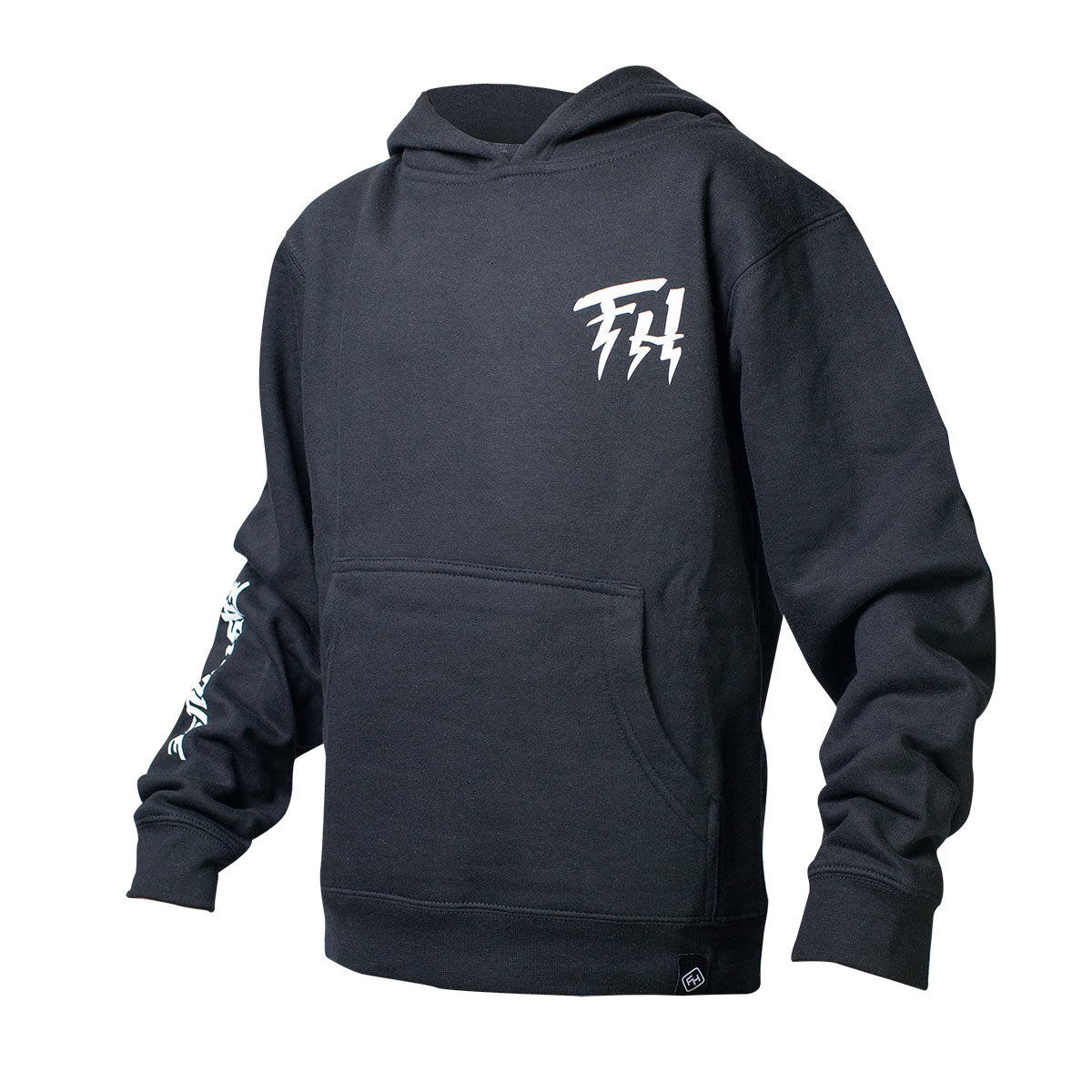 Beredude Youth Hooded Pullover - Black