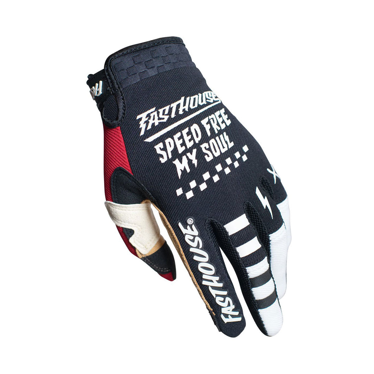 Speed Style Bereman Youth Glove - Black/Cream