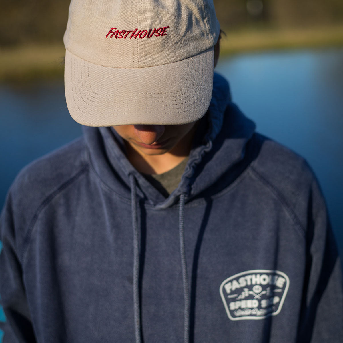 Fasthouse - Wedged Hoodie - Navy Wash