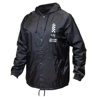 Chaos Hooded Coaches Jacket - Black