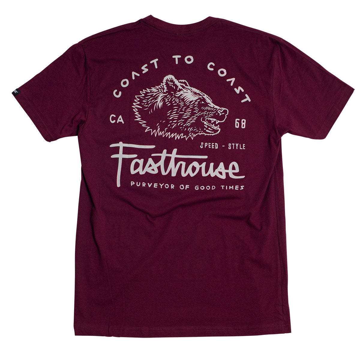 Coast to Coast Tee - Maroon