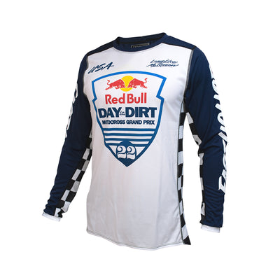 Red Bull Day in the Dirt 22 Youth Jersey - White/Navy