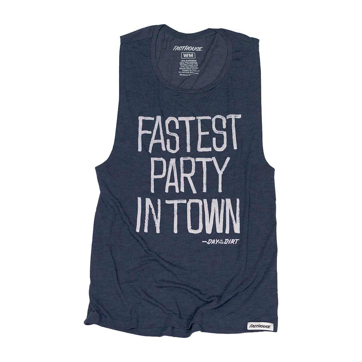 Fasthouse - Day in the Dirt Fastest Party Womens Tank - Heather Navy