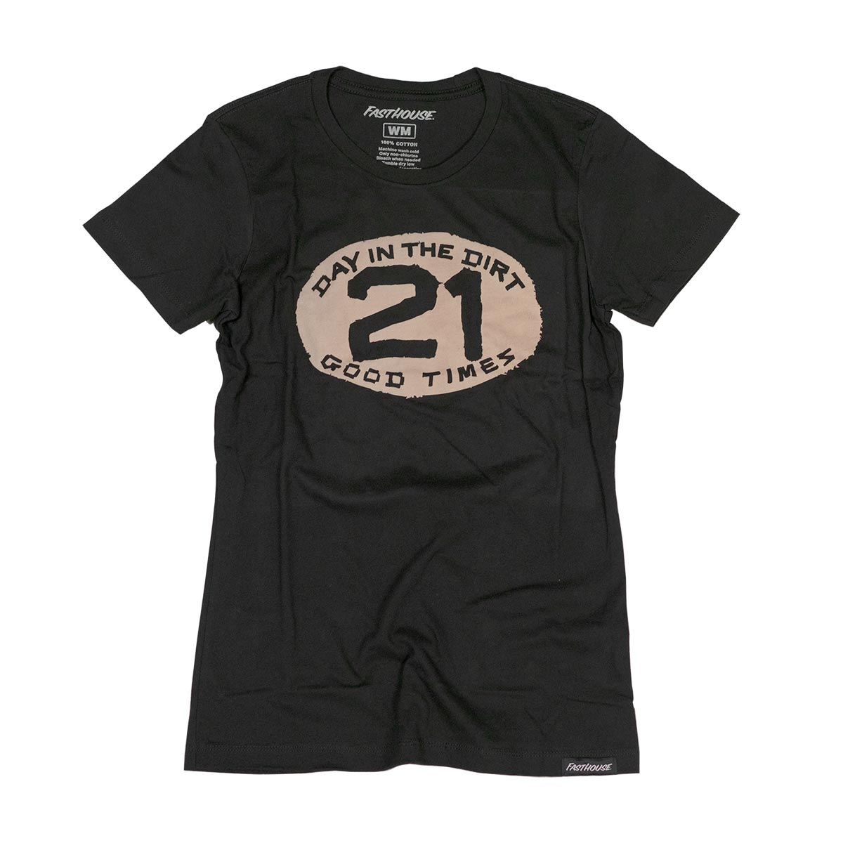 Fasthouse - Day in the Dirt Plate Womens Tee - Black