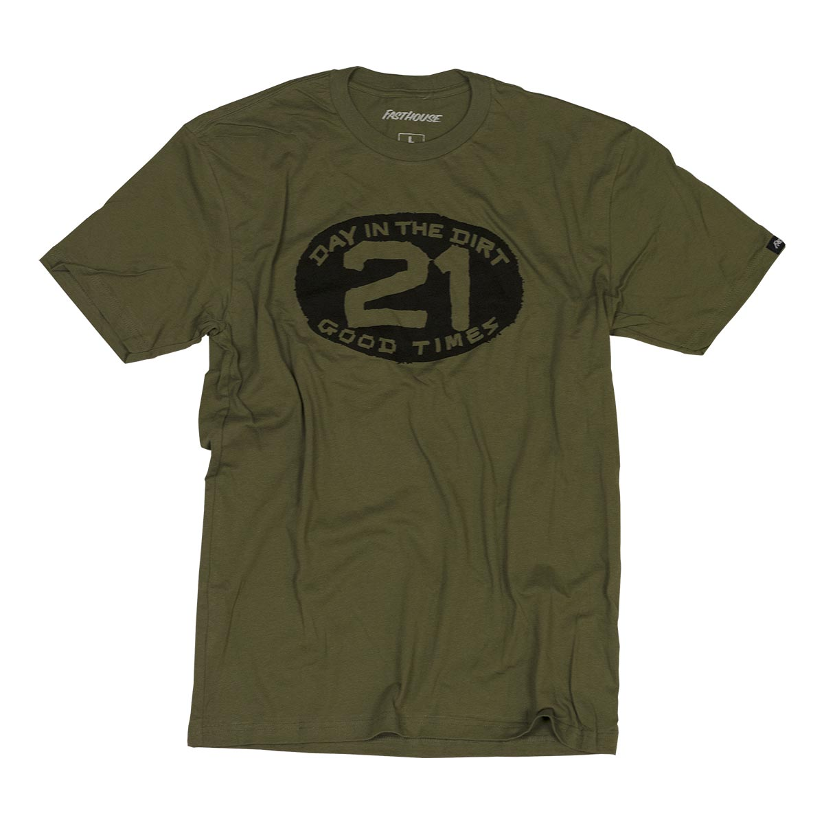 Day in the Dirt Plate Tee  - Military Green