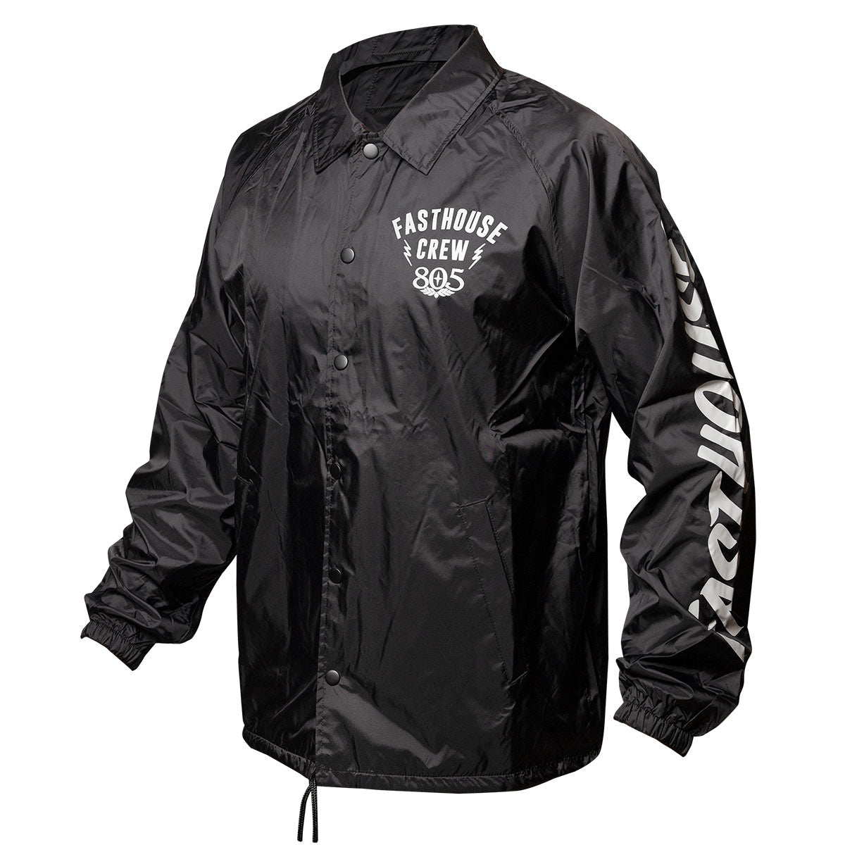 Team Collared Coach Jacket - Black