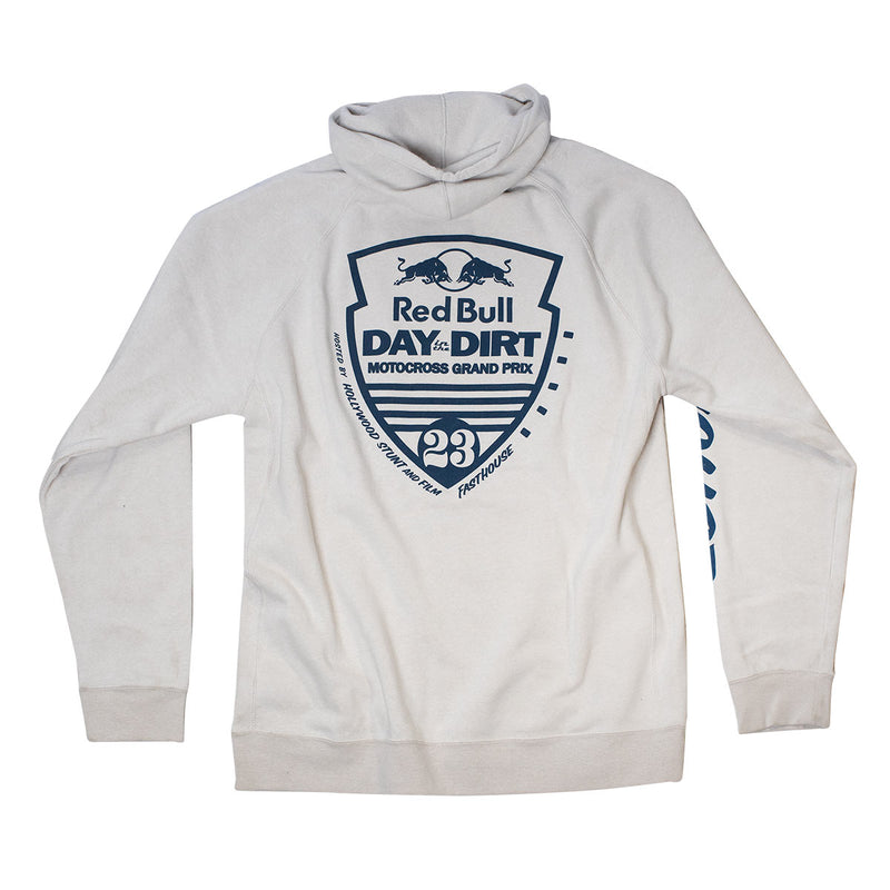 Red Bull Day in the Dirt 23 Hooded Pullover - Stone Heather