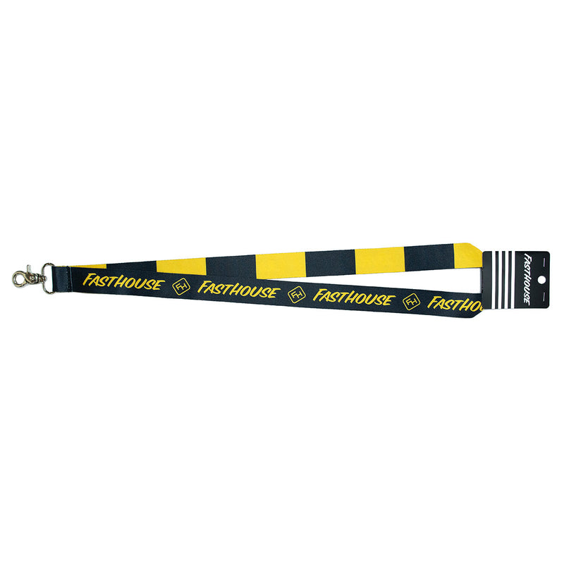 Fasthouse Stripe Lanyard - Black/Gold