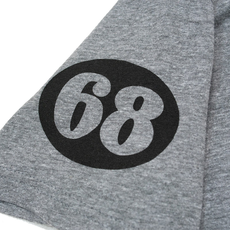 68 Skull Tee - Dark Heather