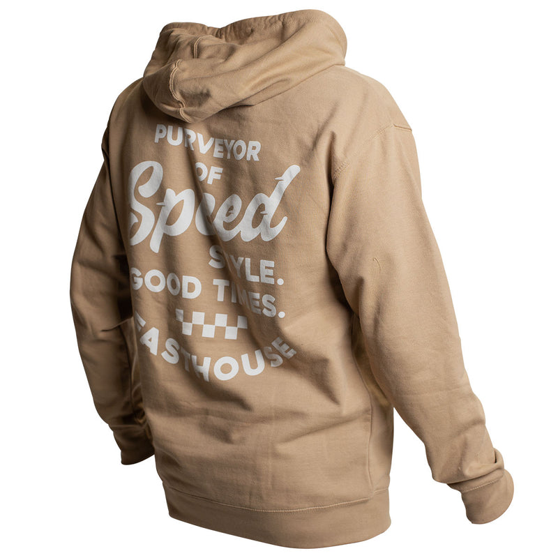 Enfield Hooded Pullover - Stone Heather