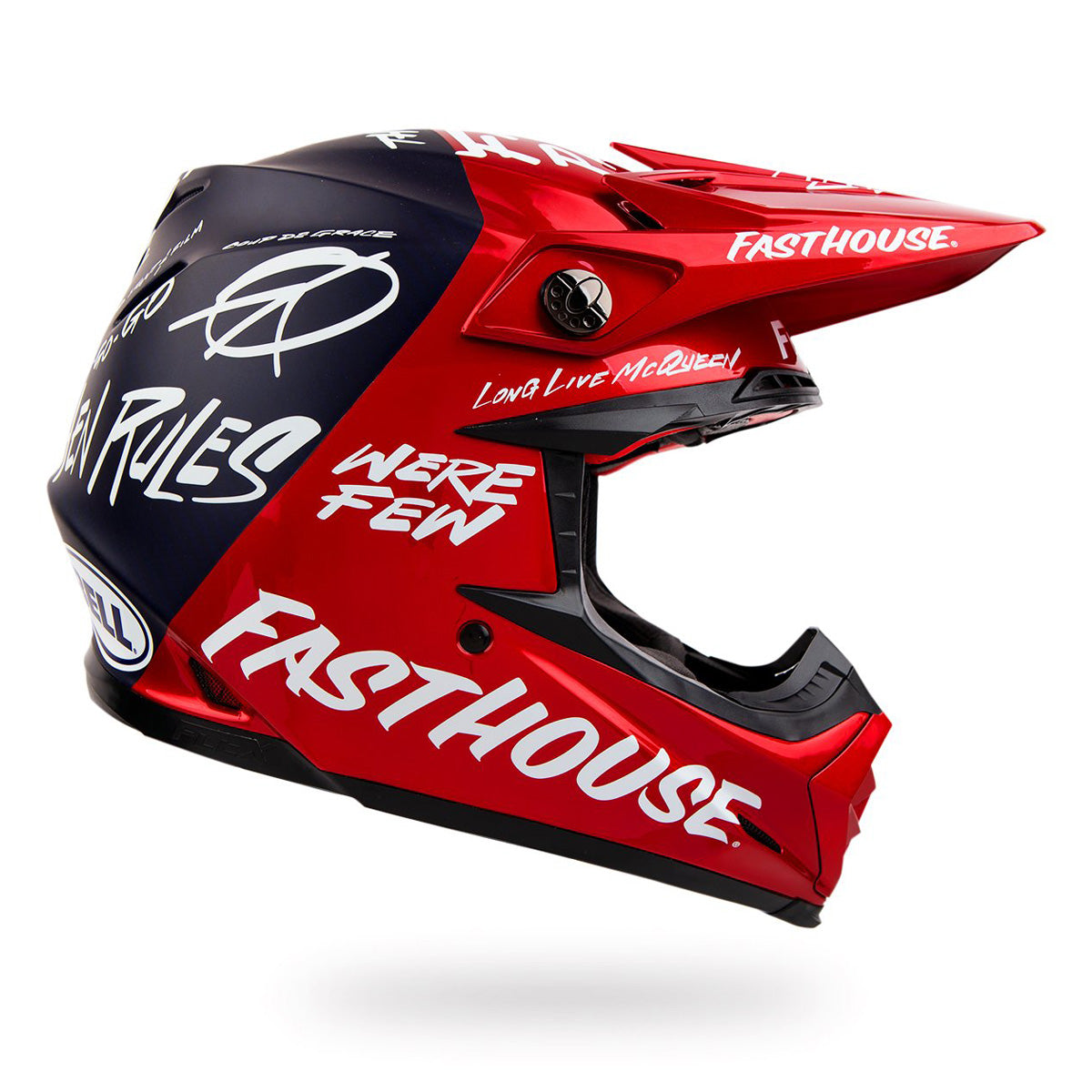 Fasthouse - Bell Day in the Dirt 21 Moto9 Flex Helmet - Red