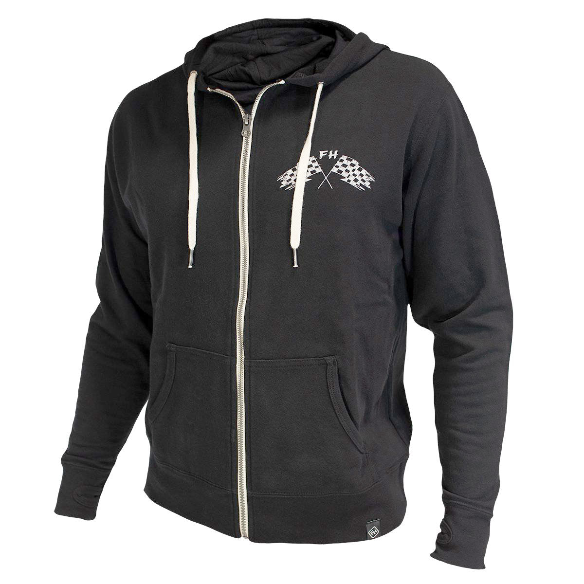 Finish Line Zip Up Hoodie - Black
