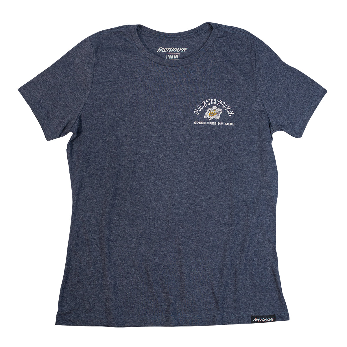 Fasthouse - Free My Soul Womens Tee - Heather Navy