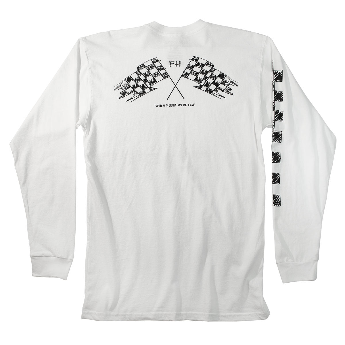 Fasthouse - Finish Line Long Sleeve Tee - White