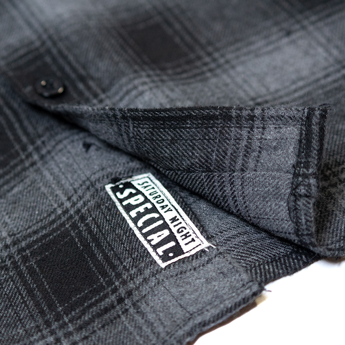 Saturday Night Special Flannel - Grey/Black