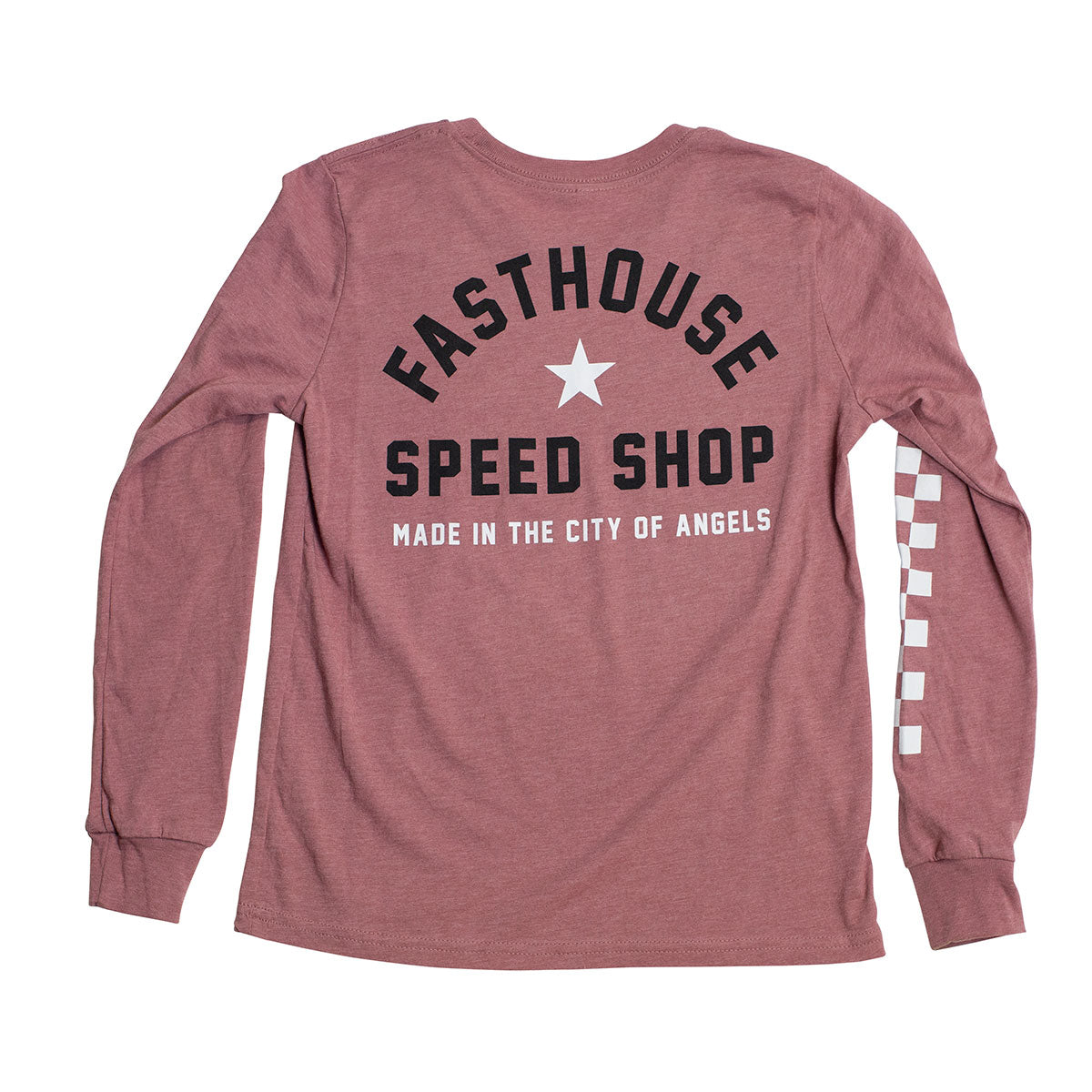 Star Long Sleeve Girls Tee - Heather Mauve