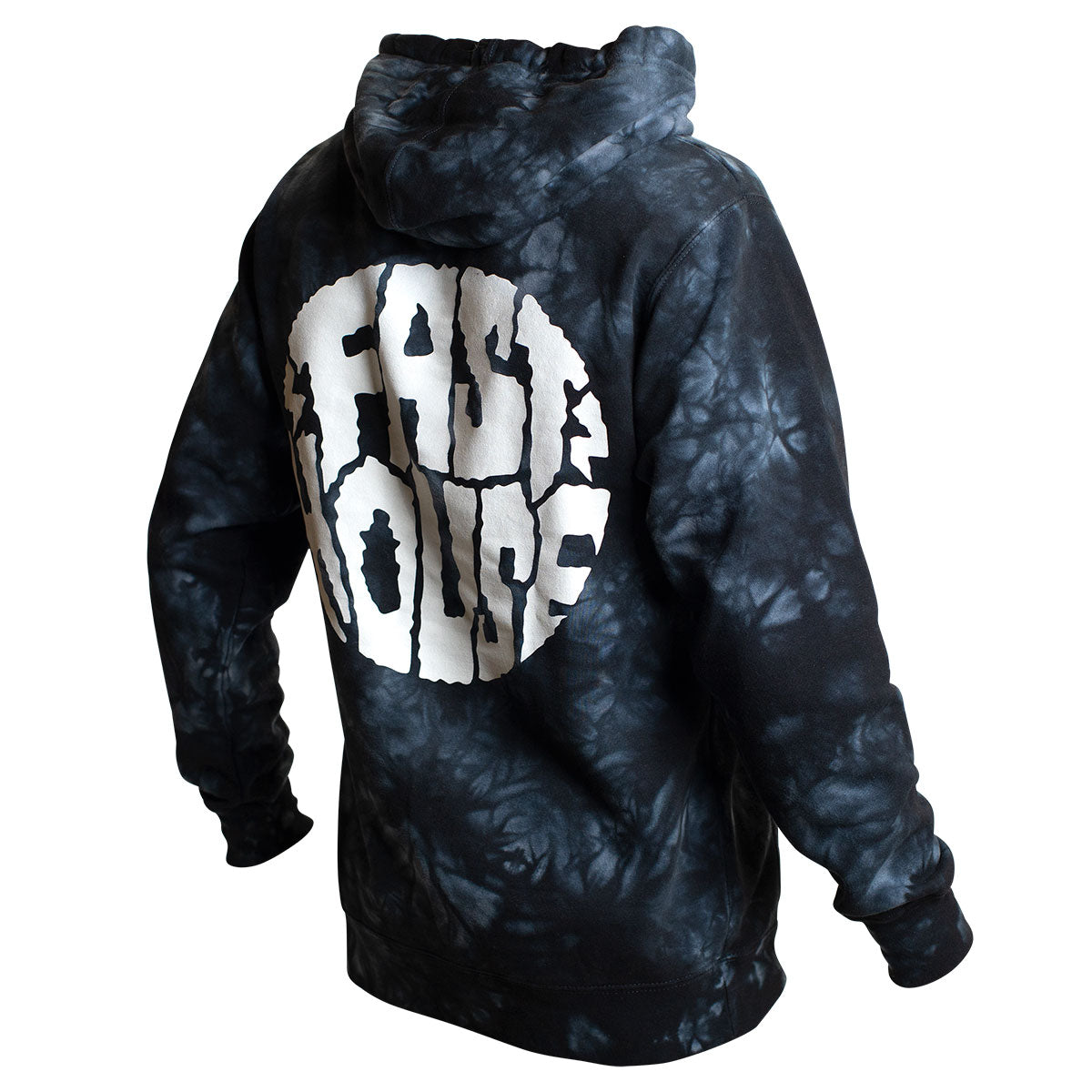 Grime Hooded Pullover - Tie Dye Black