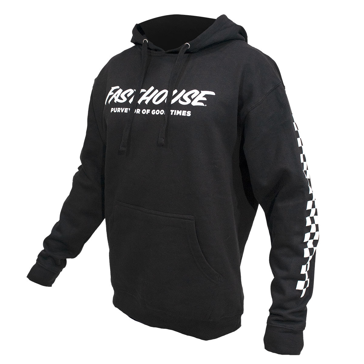 Logo Hooded Pullover - Black
