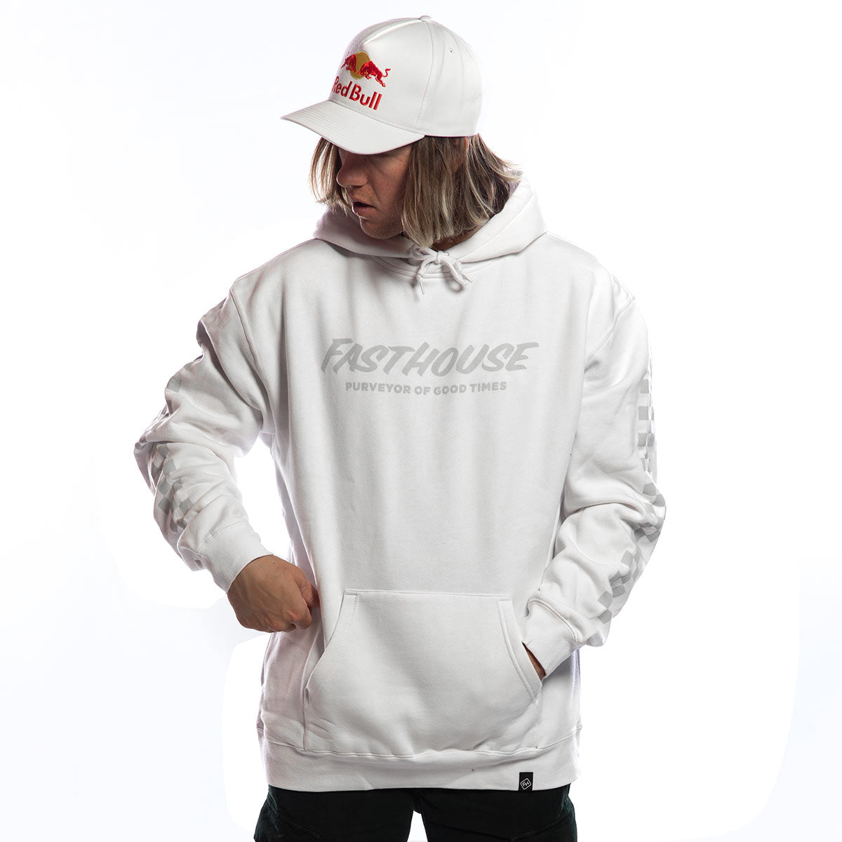 Logo Hooded Pullover - White