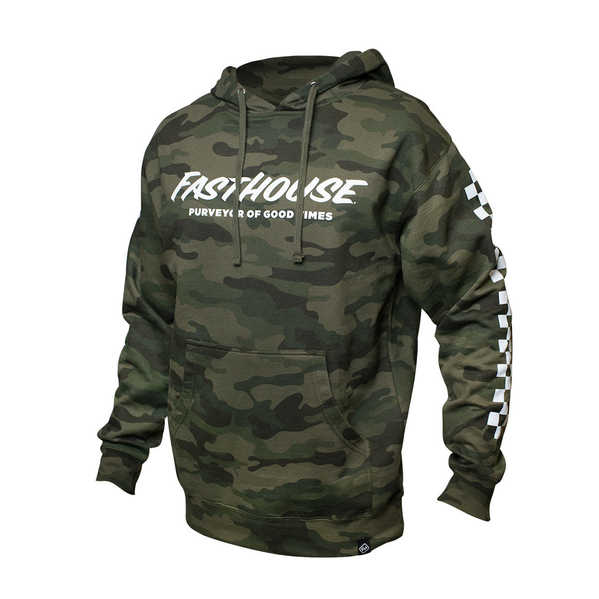 Logo Youth Hooded Pullover - Camo