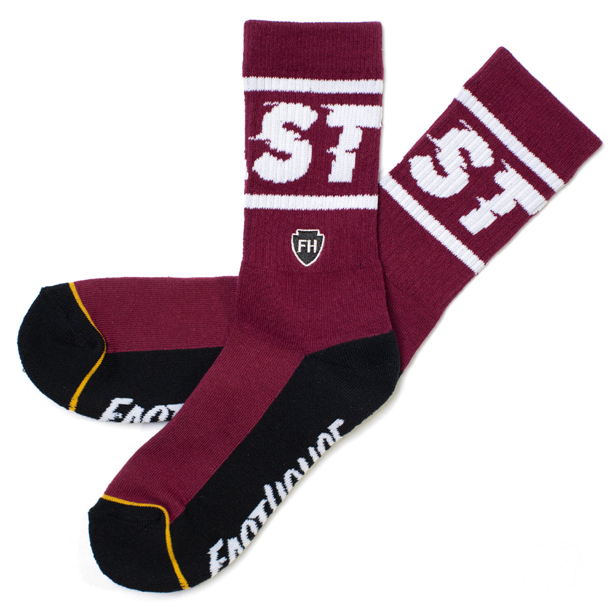 Bronson Sock - Maroon/Black